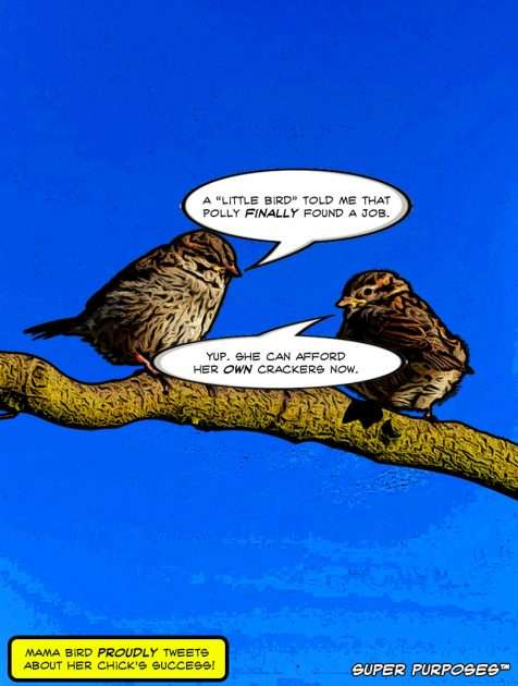 Two-Birds-On-A-Branch-Chatting